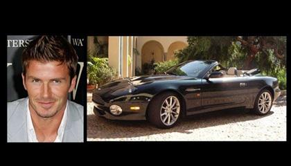David Beckham - Aston Martin DB7