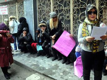Karaköy'de genelevde çalışanlar isyan etti