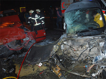 Ordu'da trafik kazası: 3 ölü, 2 yaralı