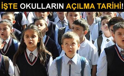 2012-2013 Eğitim Öğretim Yılında Okulların Açılış Tatil ve Kapanış Tarihleri