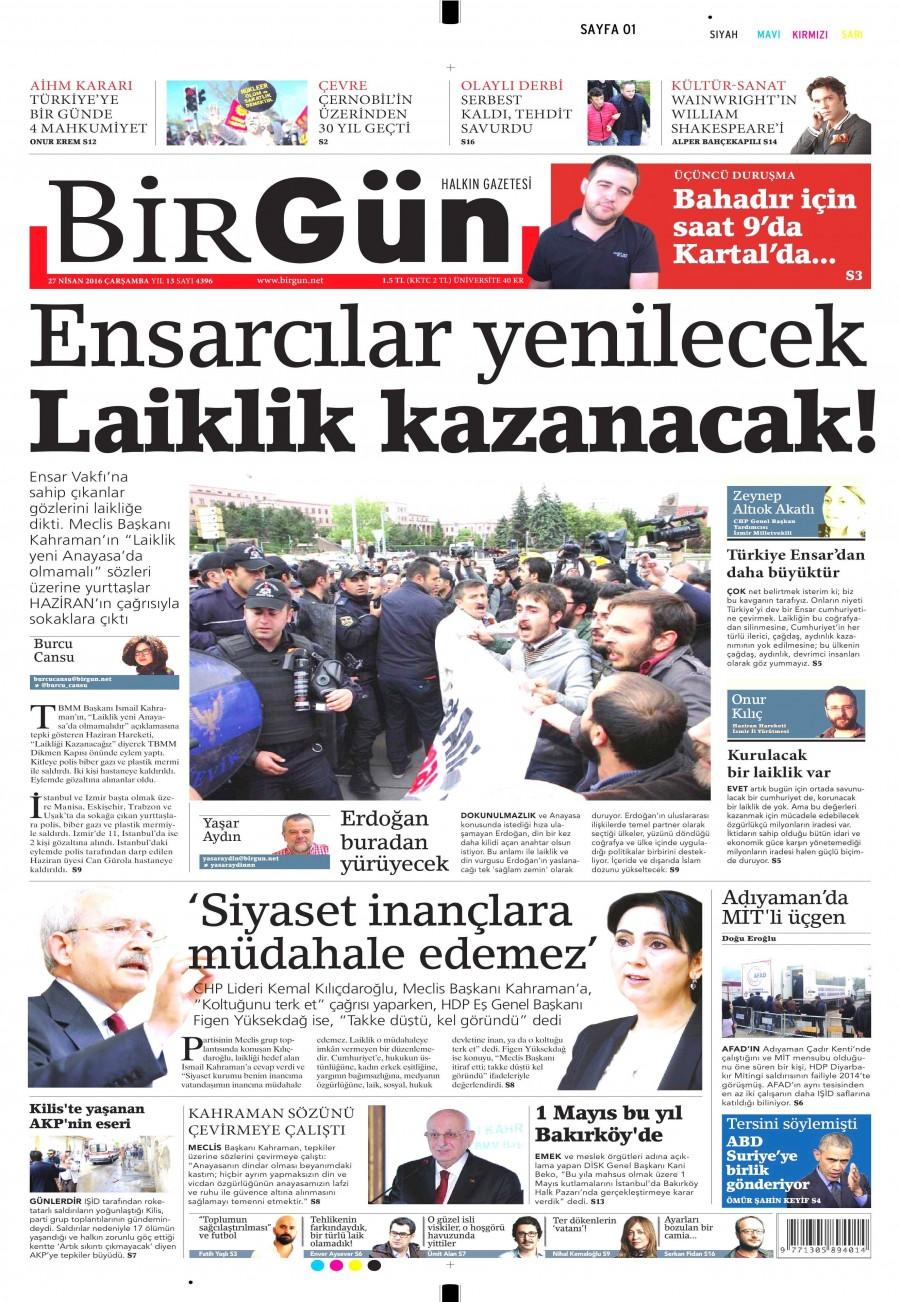 Birgün Gazetesi Oku 27 Nisan 2016 Çarşamba
