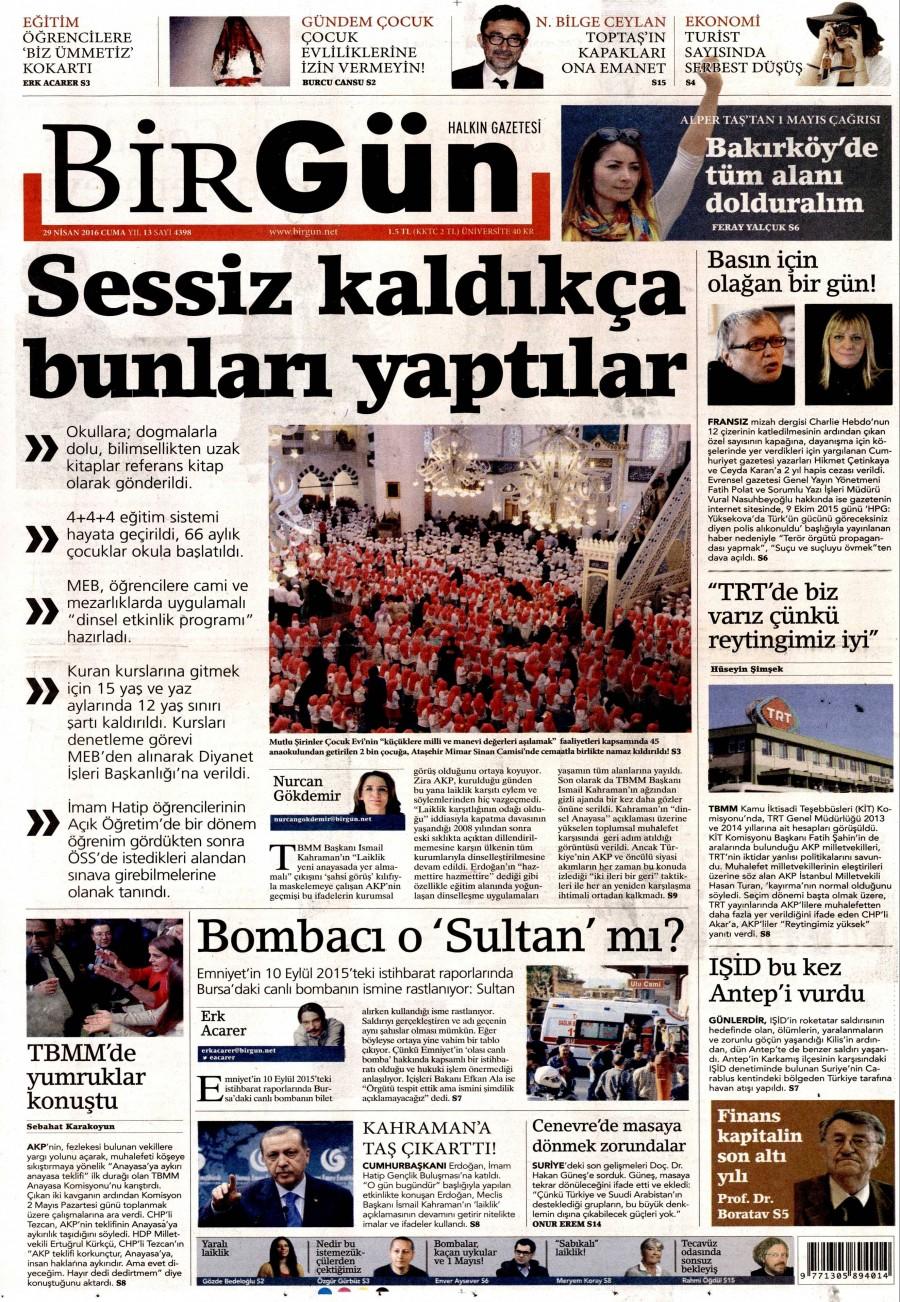 Birgün Gazetesi Oku 30 Nisan 2016 Cumartesi
