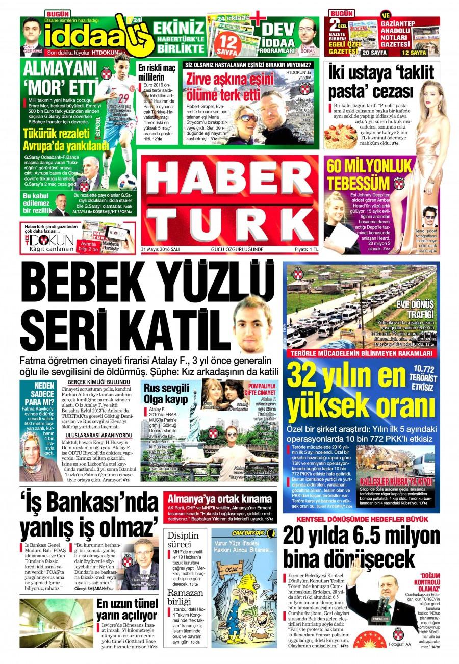 Habertürk Gazetesi Oku 31 Mayıs 2016 Salı