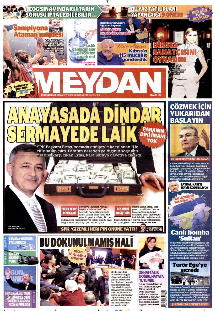 Meydan Gazetesi Oku Bugün 29 Nisan 2016 Cuma