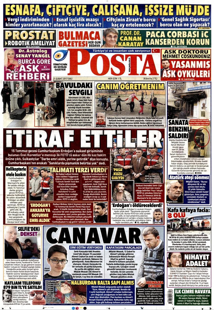 Posta Gazetesi, Gazeteler