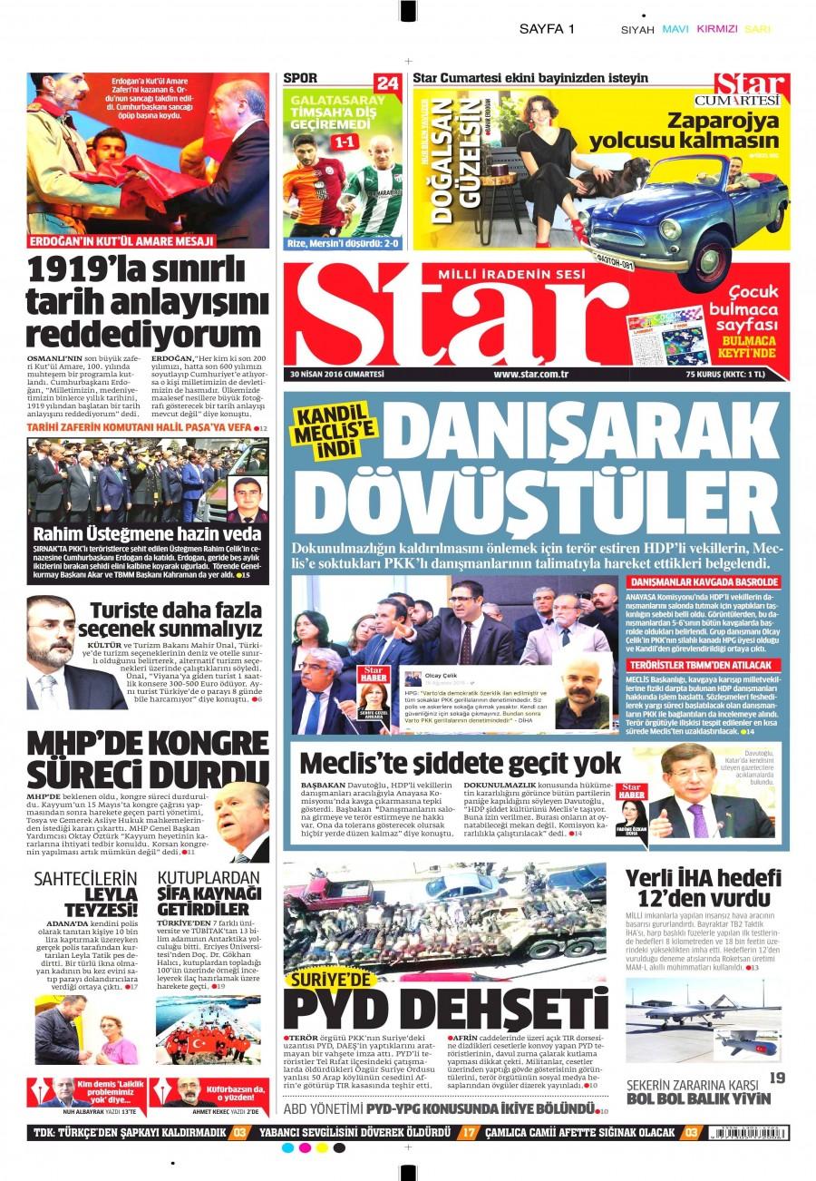Star Gazetesi Oku Bugün 30 Nisan 2016 Cumartesi