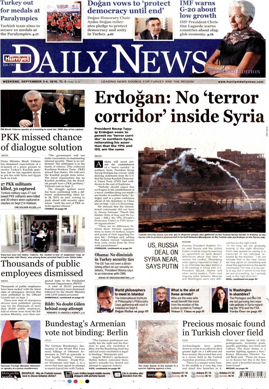 Hurriyet daily news - 20 mart 2015