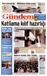 01 �ubat 2016 Tarihli �zg�r G�ndem Gazetesi