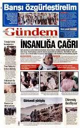 01 Eylül 2014 Tarihli Özgür Gündem Gazetesi