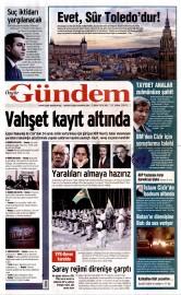 02 �ubat 2016 Tarihli �zg�r G�ndem Gazetesi