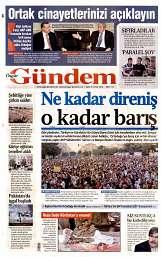 02 Eylül 2014 Tarihli Özgür Gündem Gazetesi