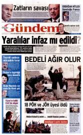 03 �ubat 2016 Tarihli �zg�r G�ndem Gazetesi