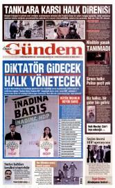 03 Ekim 2015 Tarihli �zg�r G�ndem Gazetesi