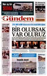 04 Eylül 2014 Tarihli Özgür Gündem Gazetesi