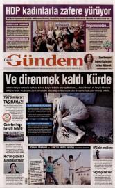 04 Ekim 2015 Tarihli �zg�r G�ndem Gazetesi