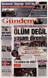 07 �ubat 2016 Tarihli �zg�r G�ndem Gazetesi