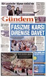 07 Ekim 2015 Tarihli �zg�r G�ndem Gazetesi