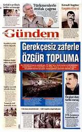 08 Eylül 2014 Tarihli Özgür Gündem Gazetesi