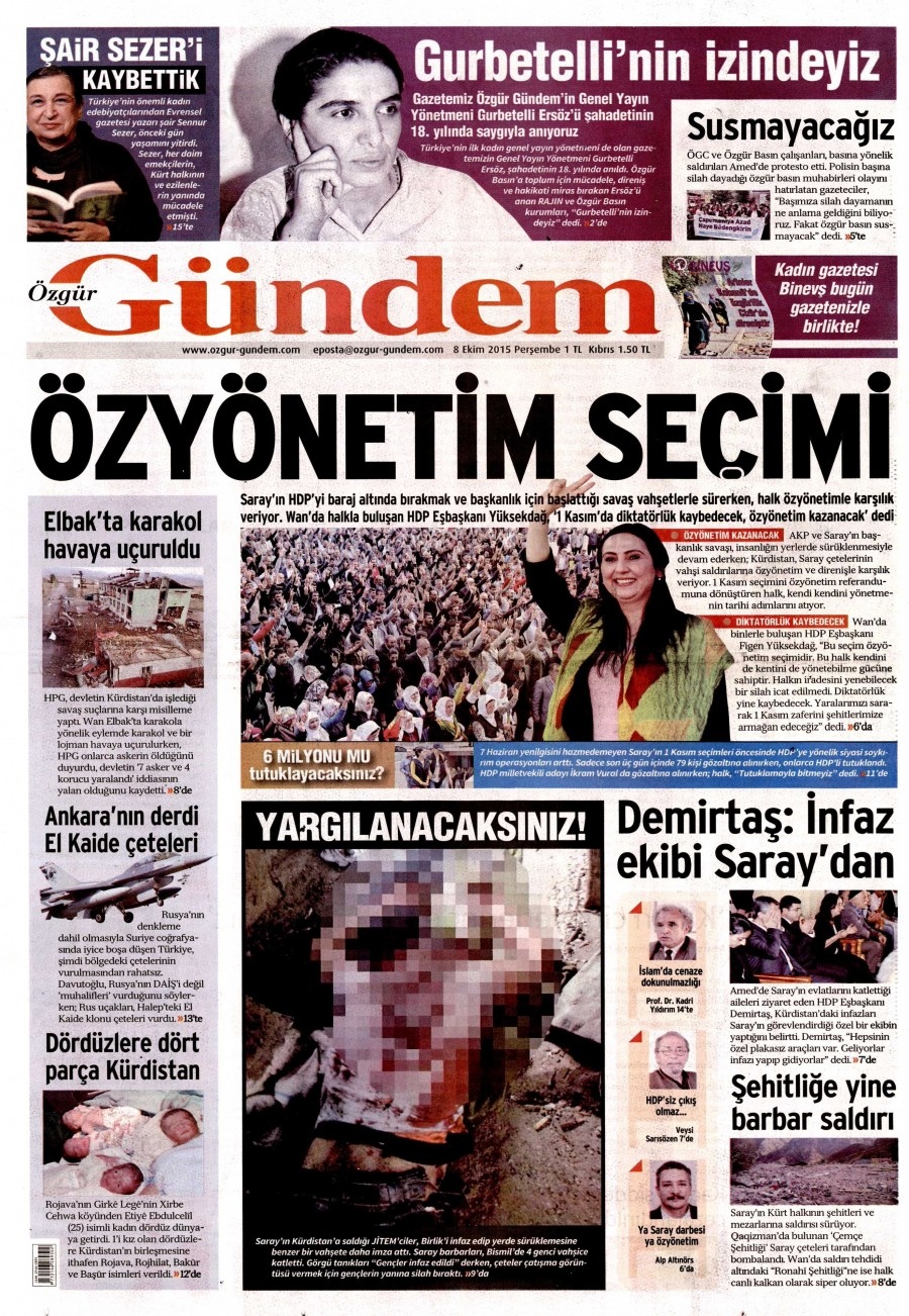 �zg�r G�ndem Gazetesi