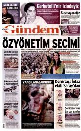 08 Ekim 2015 Tarihli �zg�r G�ndem Gazetesi