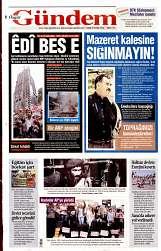 09 Eylül 2014 Tarihli Özgür Gündem Gazetesi
