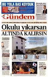 12 Eylül 2014 Tarihli Özgür Gündem Gazetesi
