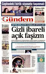 13 Eylül 2014 Tarihli Özgür Gündem Gazetesi