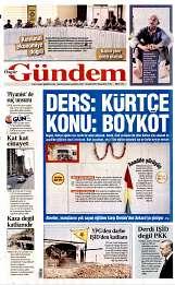 15 Eylül 2014 Tarihli Özgür Gündem Gazetesi