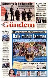17 Eylül 2014 Tarihli Özgür Gündem Gazetesi
