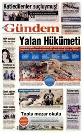 18 Nisan 2015 Tarihli �zg�r G�ndem Gazetesi