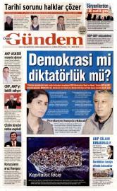 20 Nisan 2015 Tarihli �zg�r G�ndem Gazetesi