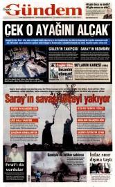 20 A�ustos 2015 Tarihli �zg�r G�ndem Gazetesi