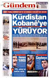 20 Eylül 2014 Tarihli Özgür Gündem Gazetesi