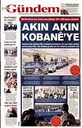 21 Eylül 2014 Tarihli Özgür Gündem Gazetesi