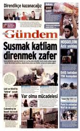 21 Kas�m 2015 Tarihli �zg�r G�ndem Gazetesi