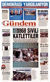 22 Nisan 2016 Tarihli Özgür Gündem Gazetesi