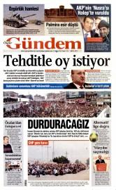 22 May�s 2015 Tarihli �zg�r G�ndem Gazetesi