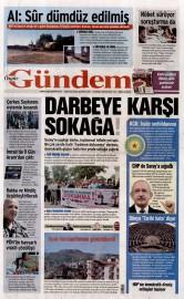 22 Mayıs 2016 Tarihli Özgür Gündem Gazetesi