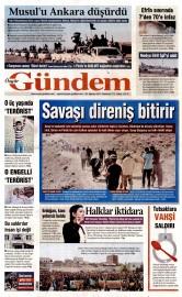 22 A�ustos 2015 Tarihli �zg�r G�ndem Gazetesi