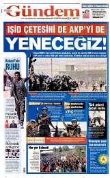 22 Eylül 2014 Tarihli Özgür Gündem Gazetesi