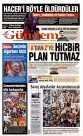 23 May�s 2015 Tarihli �zg�r G�ndem Gazetesi