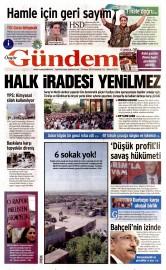 23 Mayıs 2016 Tarihli Özgür Gündem Gazetesi