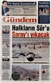 23 A�ustos 2015 Tarihli �zg�r G�ndem Gazetesi