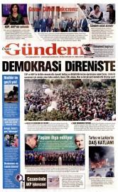 24 Mayıs 2016 Tarihli Özgür Gündem Gazetesi