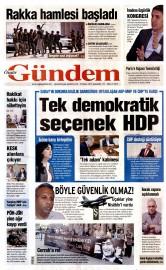 25 Mayıs 2016 Tarihli Özgür Gündem Gazetesi