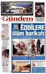 25 Ağustos 2014 Tarihli Özgür Gündem Gazetesi