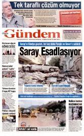 25 A�ustos 2015 Tarihli �zg�r G�ndem Gazetesi