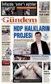26 Nisan 2015 Tarihli �zg�r G�ndem Gazetesi