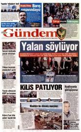 26 Nisan 2016 Tarihli Özgür Gündem Gazetesi