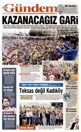 26 May�s 2015 Tarihli �zg�r G�ndem Gazetesi